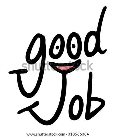 good job symbol - stock vector