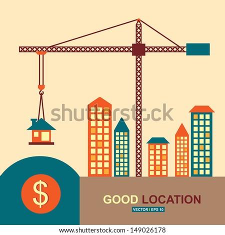 Good location, idea concept - stock vector