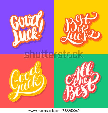 how to say best of luck