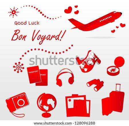 Good luck! Bon Voyerd! - stock vector