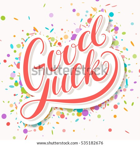 Good Luck Farewell Card Stock Vector 535182676 - Shutterstock