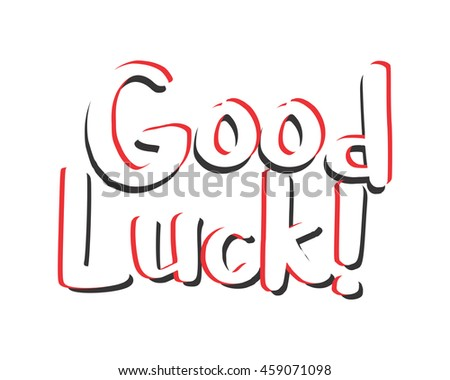 good luck text icon 1