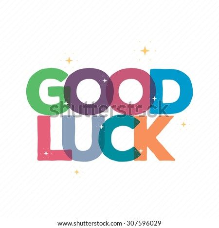 Good Luck Typography Card Design Greeting Card Stock Vector ...