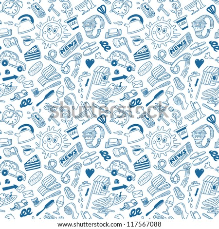 good morning - seamless background - stock vector