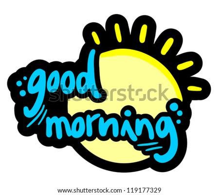 good morning sun stock vector 119177329 shutterstock rh shutterstock com good morning logo download good morning look at the valedictorian