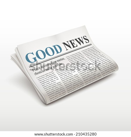 good news words on newspaper over white background - stock vector