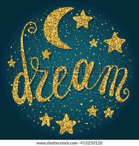 Good Night And Sweet Dreams Theme Background. Abstract Card, Poster,  Banner, Placard