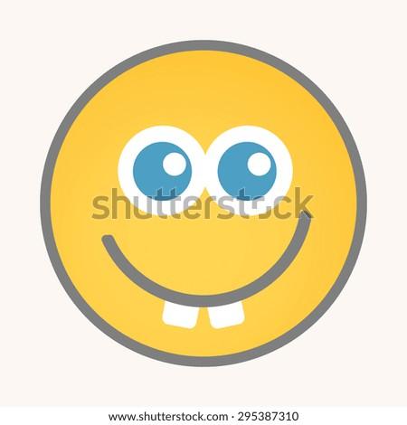 Goofy - Cartoon Smiley Vector Face - stock vector