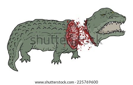Gore crocodile - stock vector
