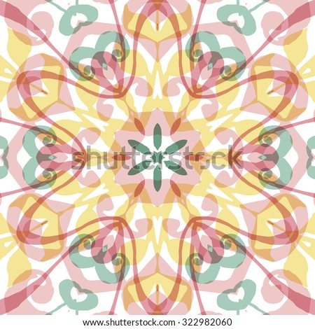 Gorgeous seamless patchwork pattern. Colorful floral ornament tiles. For different design uses, as wallpaper, pattern fills, web page background, surface texturesm for print and dalle production. - stock vector