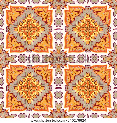 Gorgeous seamless patchwork pattern from Moroccan tiles, ornaments. Can be used for wallpaper, pattern fills, web page background,surface textures.