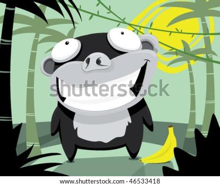 Gorilla. - stock vector