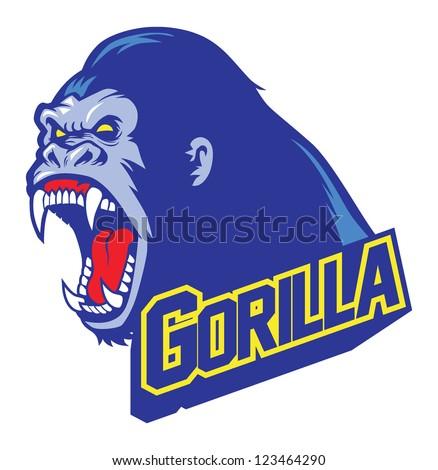 gorilla mascot - stock vector