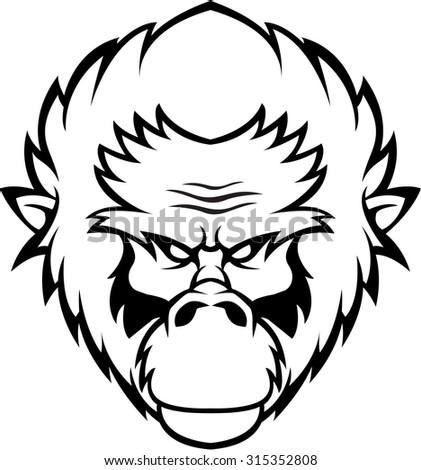 Gorilla symbol illustration  - stock vector