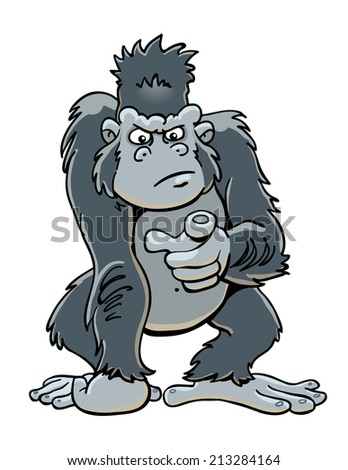 Gorilla Wants You - stock vector