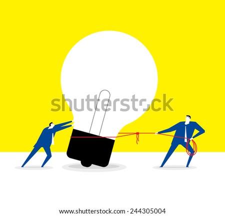 Got a big idea. - stock vector