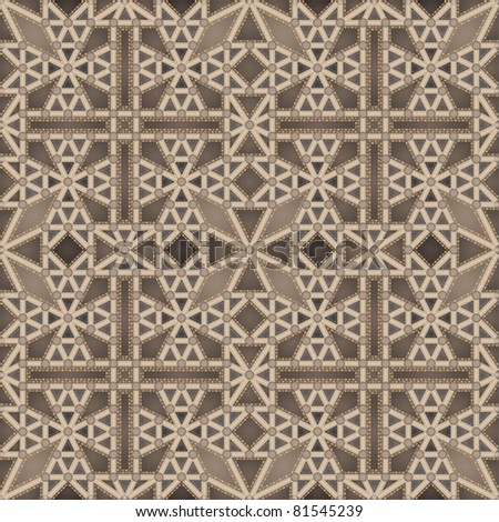 Gothic ceiling (seamless pattern) - stock vector