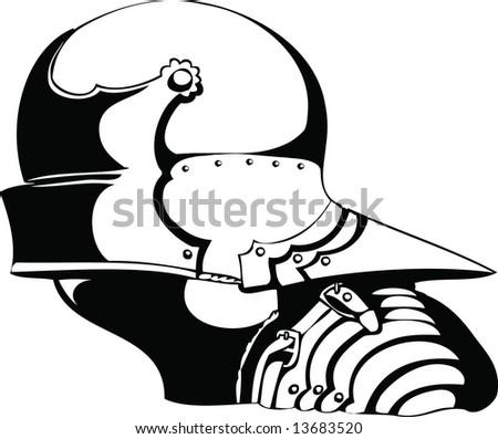 Gothic helmet - stock vector