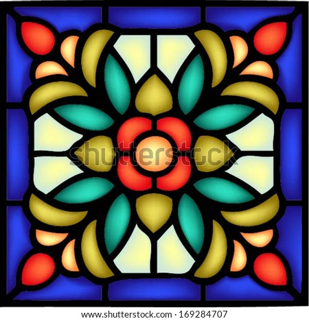 Blue Stained Glass Patterns Stock Images, Royalty-Free Images ...