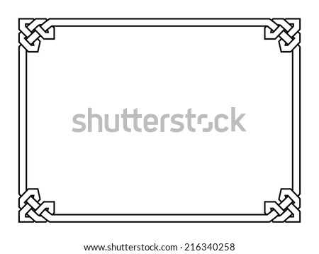 Gothic style black ornamental decorative frame - stock vector