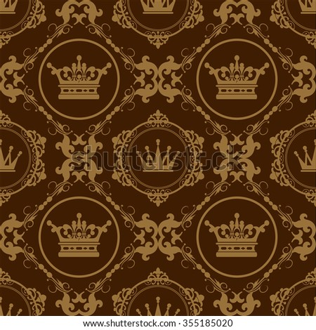 Gothic Style, Brown, Background, Vector Pattern Template, Seamless Pattern, Pattern Background, Design Pattern, Vintage Pattern, Graphic Design - stock vector