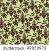 Gothic style floral background - stock vector