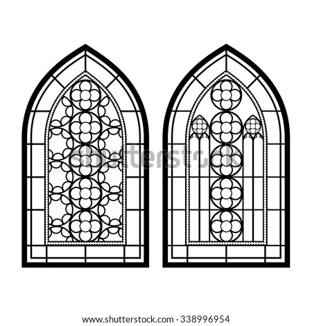 Gothic Windows Vintage Frames Church Stainedglass 380984350 on italian architecture