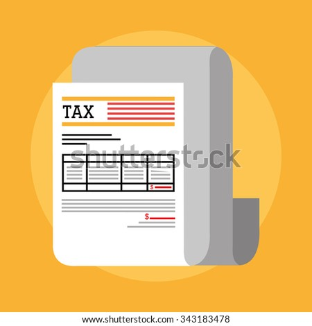 Goverment taxes payday graphic icons, vector illustration eps10