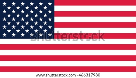 Government specification flag of the United States of America; current 50-star version; 10:19 aspect ratio