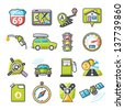 GPS and Navigation icons set 01. Happy series - stock vector