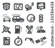GPS and Navigation icons set 01. RAW series - stock vector