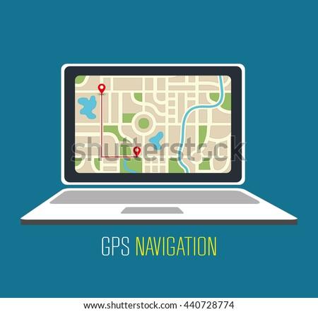 gps navigation design, vector illustration eps10 graphic  - stock vector