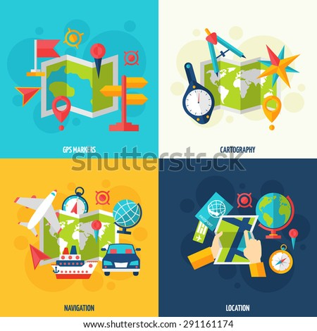 Car 60 Route Map Gps Navigation Stock Vector 250790416 - Shutterstock