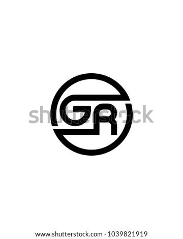 Gr Initial Circle Logo Template Vector Stock Vector 1039821919 ...