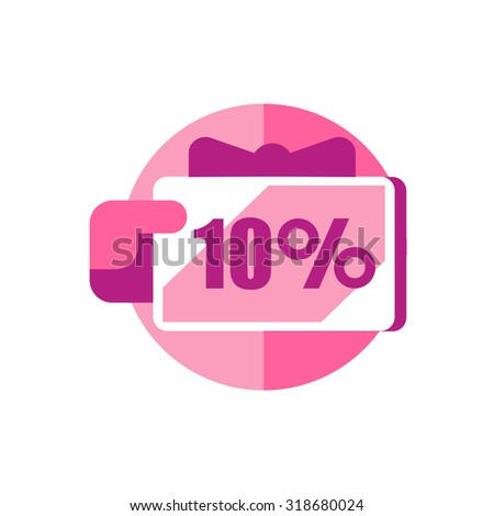 Grab discounts. Hands hold 10 percent discount. vector banner discount of 10 percent. EPS 10 - stock vector