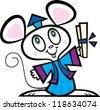 Grad Mouse - stock vector