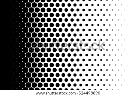 Gradient background with dots Halftone pop art design Light effect Vector illustration for website, card, poster