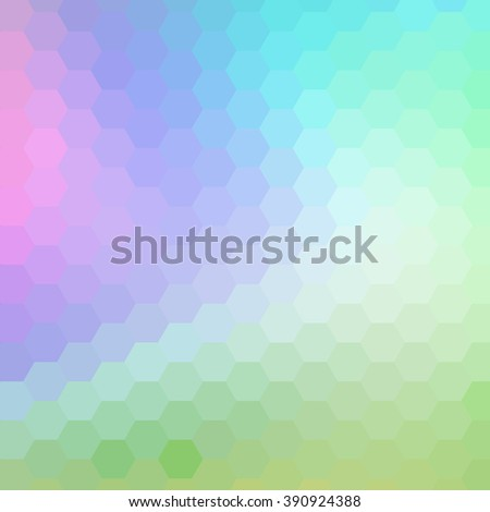 gradient blue, red. green, violet, cyan color and triangle polygon pattern background (vector) - stock vector