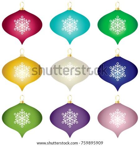 gradient christmas tree ornaments vector clipart stock vector rh shutterstock com christmas ornament vector free download christmas ornament vector clipart