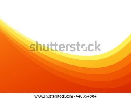 Gradient curved orange background - stock vector