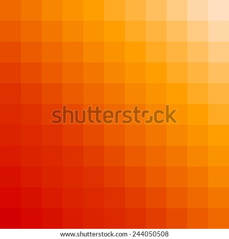 gradient orange color and square polygon pattern background (vector) - stock vector