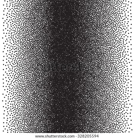 Gradient Seamless Background with Black Dots. Dotwork Engraving Pattern Background. Vector Illustration. - stock vector