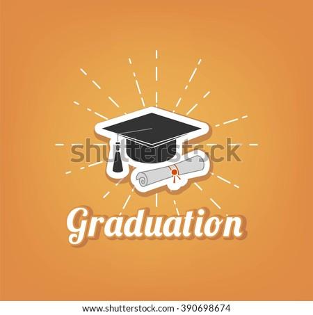 graduate cap  - stock vector