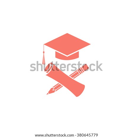 Graduate Education Logo Graduation Symbols Diploma Stock ...