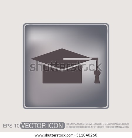 graduate hat sign. Education sign. symbol icon college or institute. graduation