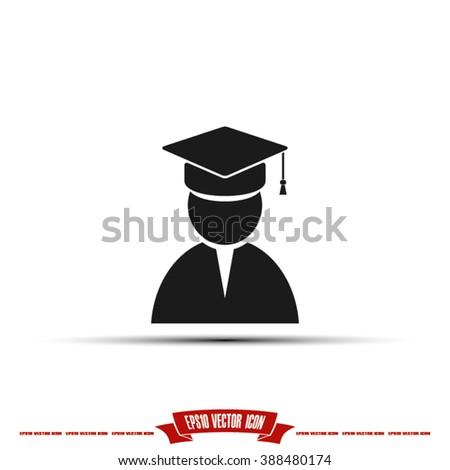 Graduate Icon. Graduate Icon Vector. Graduate Icon JPEG. Graduate Icon Object.  Graduate Icon Image. Graduate Icon Graphic. Graduate Icon Art. Graduate Icon JPG. Graduate Icon EPS. Graduate Icon AI - stock vector