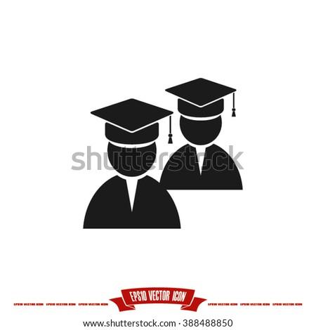 Graduate icon vector illustration eps10. - stock vector