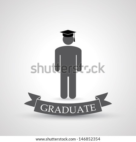 graduate symbol. vector. eps10 - stock vector