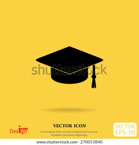 graduate vector icon - stock vector