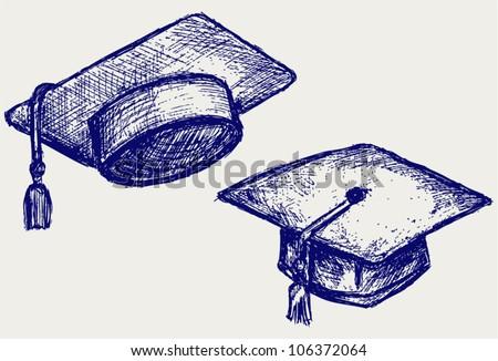 Graduation cap - stock vector